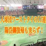 巨人球団ワーストタイの11連敗の理由!陽岱鋼が復帰も菅野炎上!