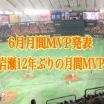 2017年6月月間MVP発表!岩瀬、丸、柳田、十亀の成績と12年前の・・・